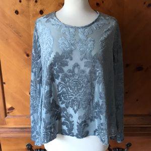 Charming Charlie long sleeve velvet blouse
